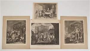 WILLIAM HOGARTH ENGLISH 16971764 SATIRICAL PRINTS