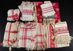 ANTIQUE TURKEY RED AND RELATED COTTON  LINEN TEXTILES