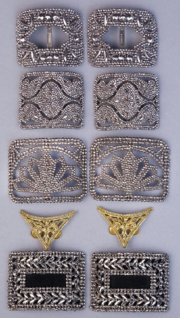 ASSORTED EDWARDIAN STEEL-CUT SHOE BUCKLES, LOT OF FOUR