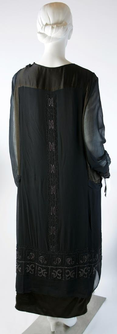 BEADED SILK CHIFFON AND SATIN LUXURY DAY DRESS - 2