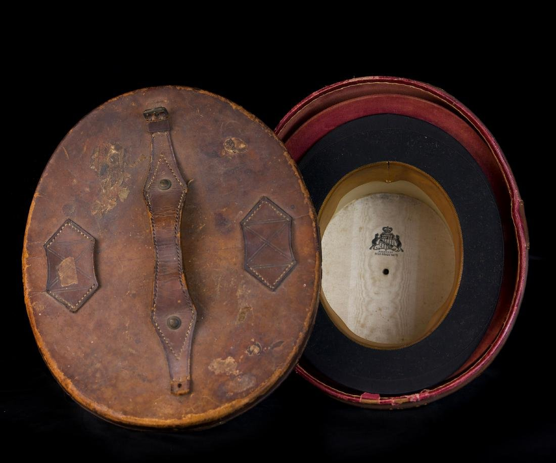 MAN'S SILK BEAVER TOP HAT AND ORIGINAL TRAVEL CASE - 2