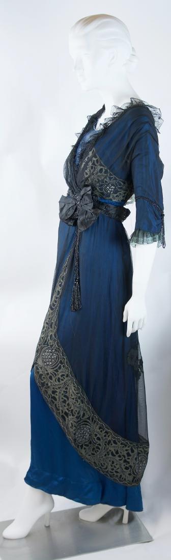 MAISON SPINNER COUTURE SILK BEADED DRESS