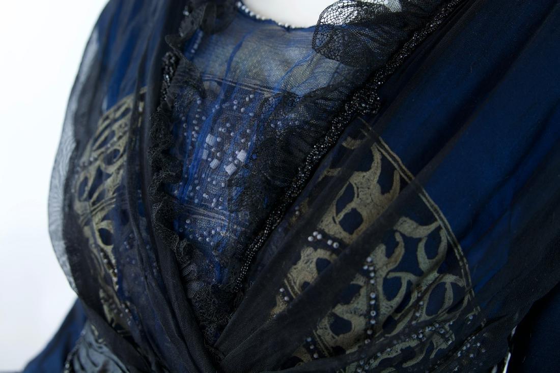 MAISON SPINNER COUTURE SILK BEADED DRESS - 5
