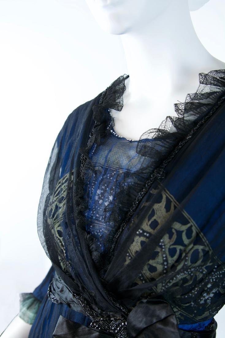 MAISON SPINNER COUTURE SILK BEADED DRESS - 8