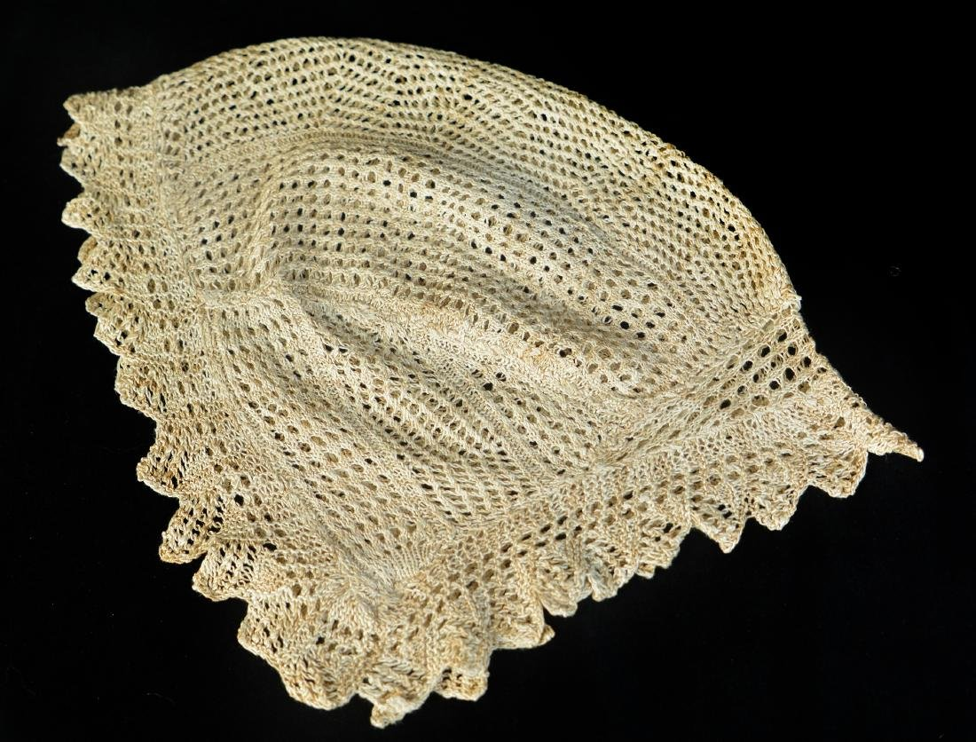 ASSORTED LACE BONNETS AND LAPPETS, LOT OF THREE - 5