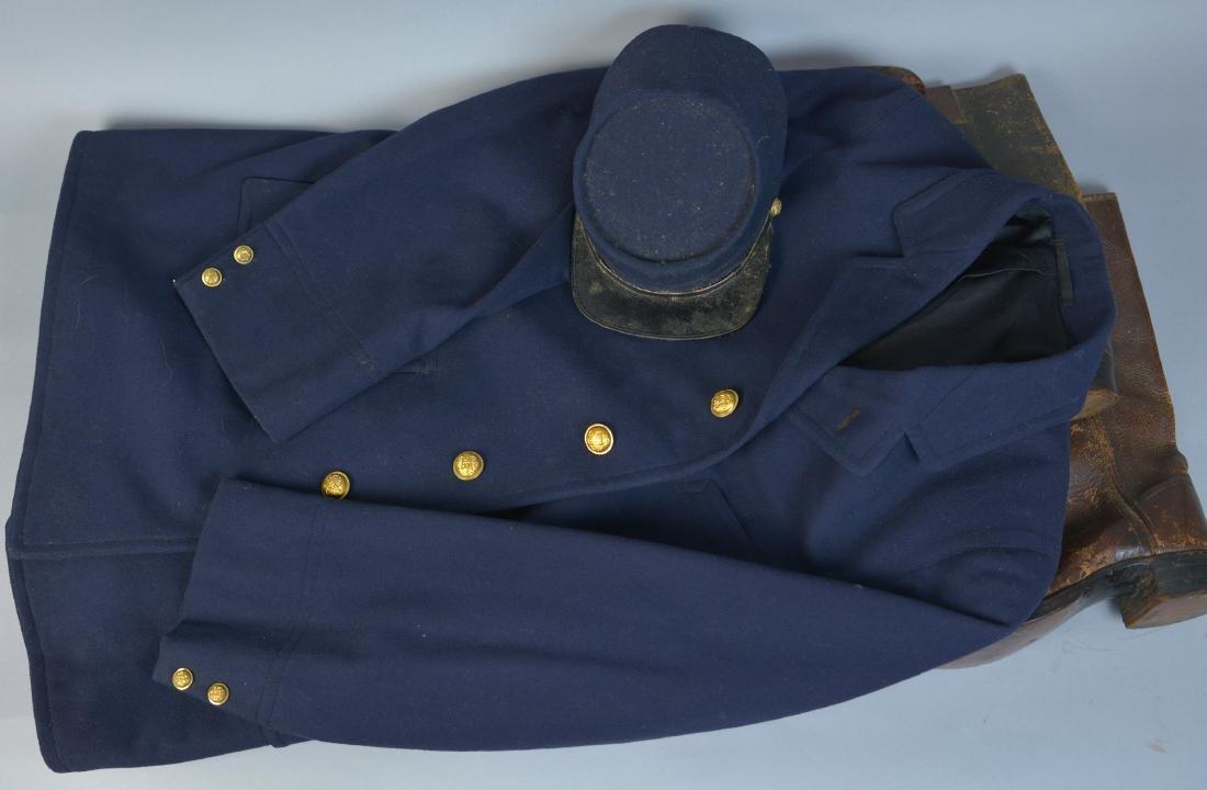UNION SOLDIER'S CIVIL WAR ERA CEREMONIAL COAT AND KEPI
