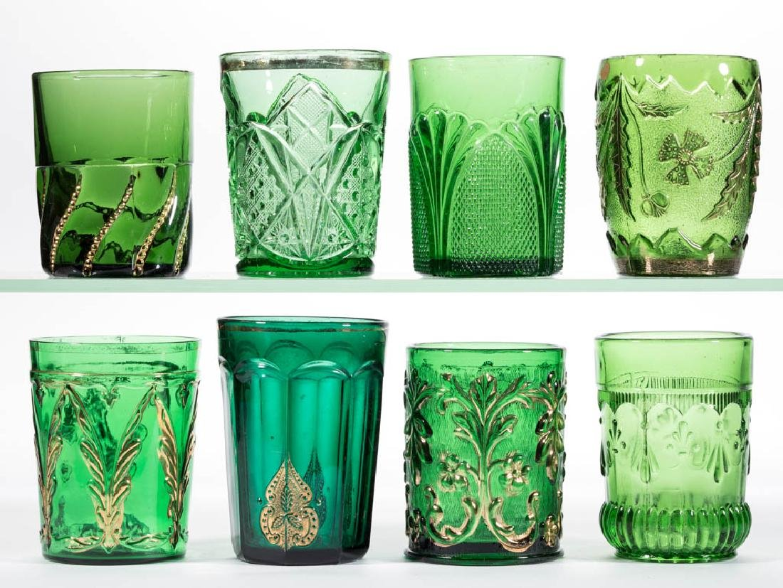 ASSORTED EAPG TUMBLERS, LOT OF EIGHT