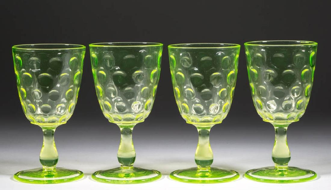 GREENTOWN NO. 7 1/2 / INVERTED THUMBPRINT GOBLETS, LOT
