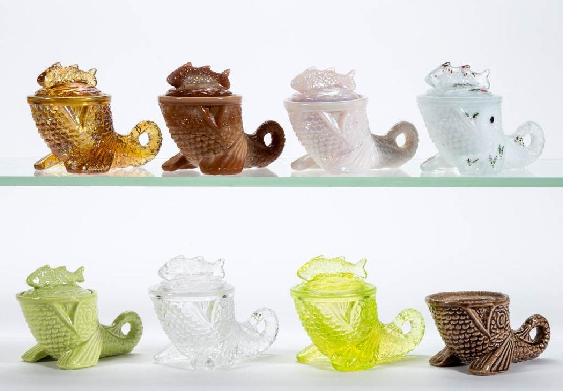 GREENTOWN REISSUE DOLPHIN DIMINUTIVE COVERED DISHES,