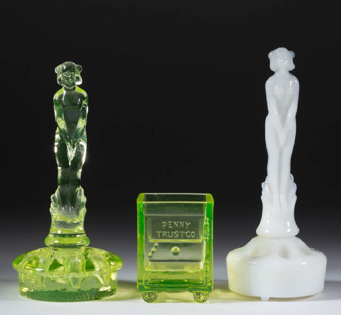 ASSORTED PRESSED NOVELTY ARTICLES, LOT OF THREE