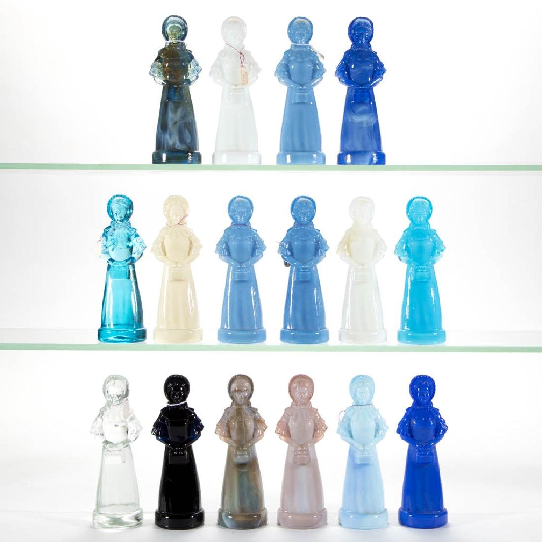 DEGENHART GLASS PRISCILLA / COLONIAL LADY FIGURES, LOT