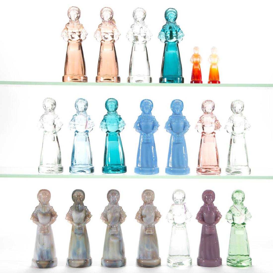 DEGENHART GLASS PRISCILLA / COLONIAL LADY FIGURES, LOT