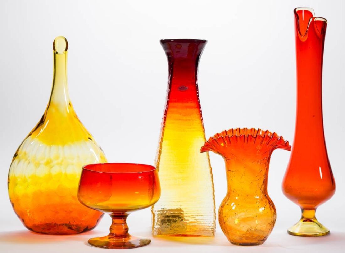 ASSORTED BLENKO GLASS VASES, LOT OF FOUR