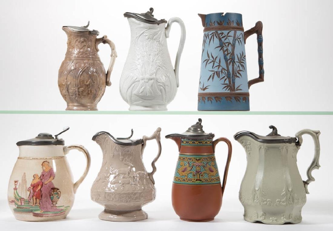 ENGLISH AESTHETIC MOVEMENT AND OTHER POTTERY SYRUPS /
