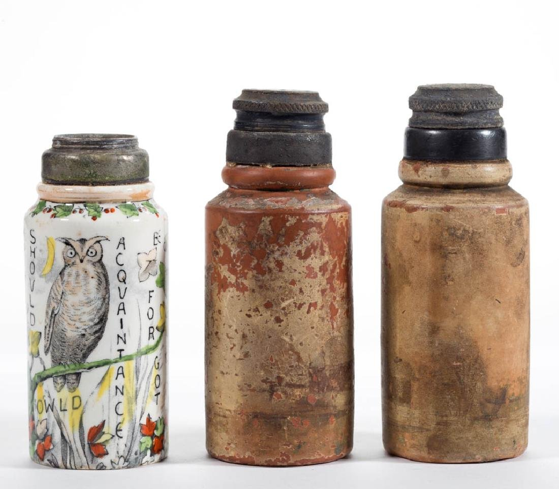 ASSORTED CERAMIC SALT SHAKERS, LOT OF THREE