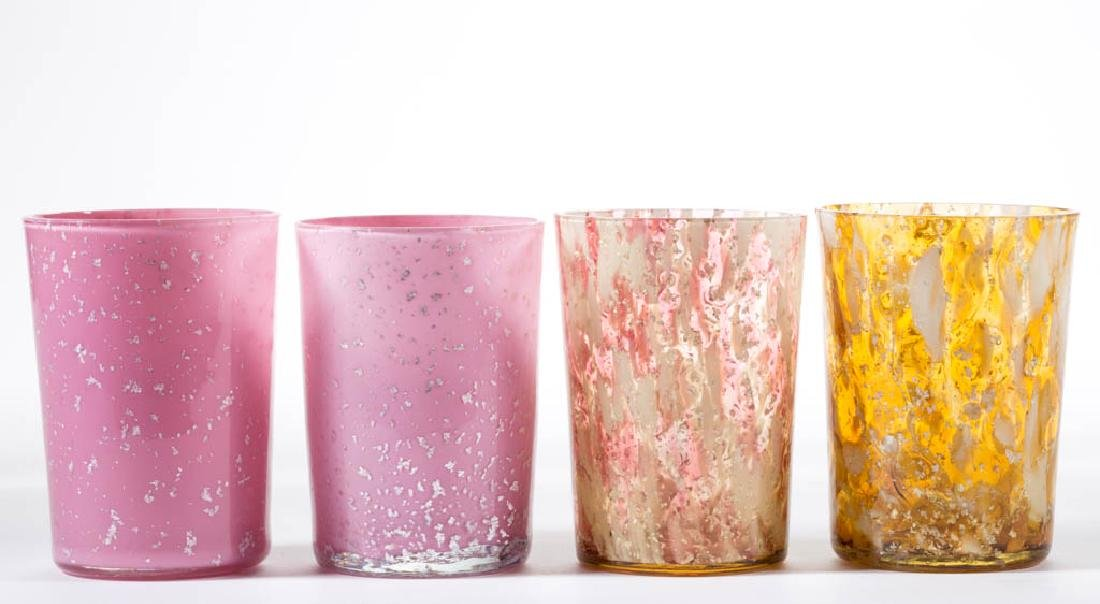 ASSORTED VICTORIAN SPANGLE GLASS TUMBLERS, LOT OF FOUR