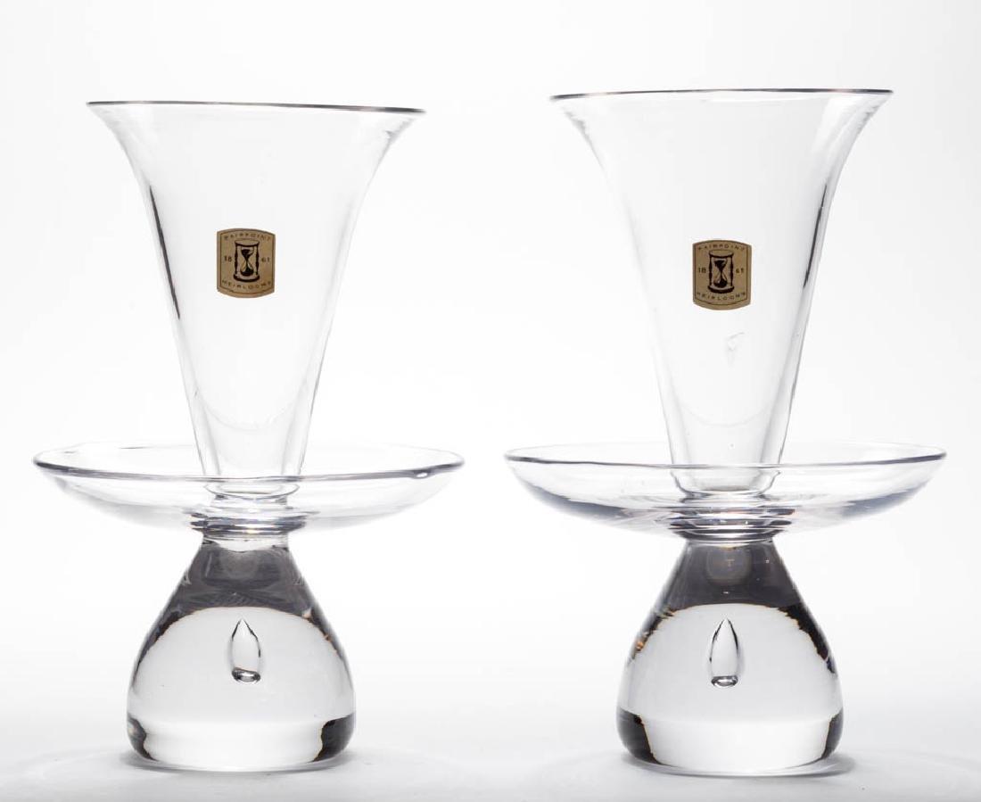 PAIRPOINT HEIRLOOM CRYSTAL ART GLASS PAIR OF VASES