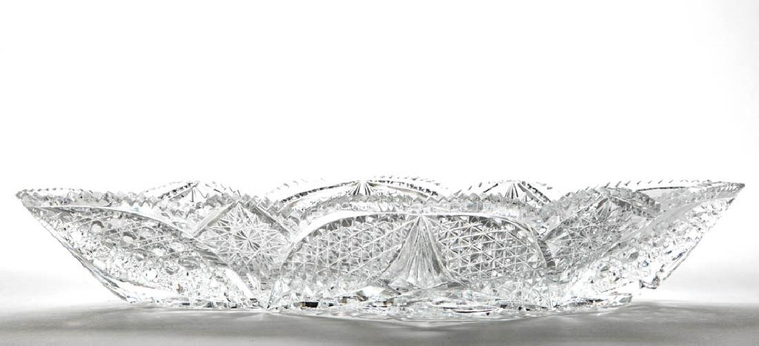 AMERICAN BRILLIANT CUT GLASS DISH - 2