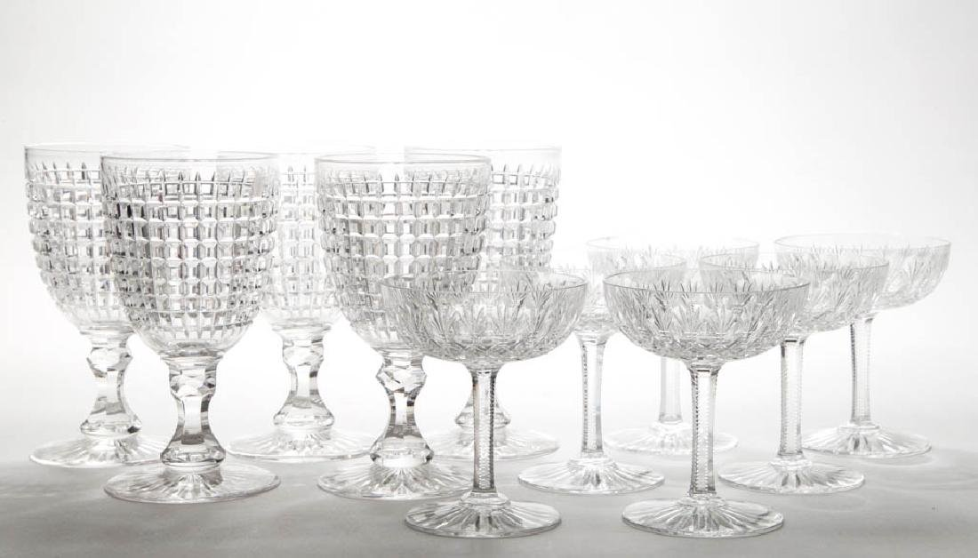 ASSORTED CUT GLASS DRINKING VESSELS, LOT OF 11
