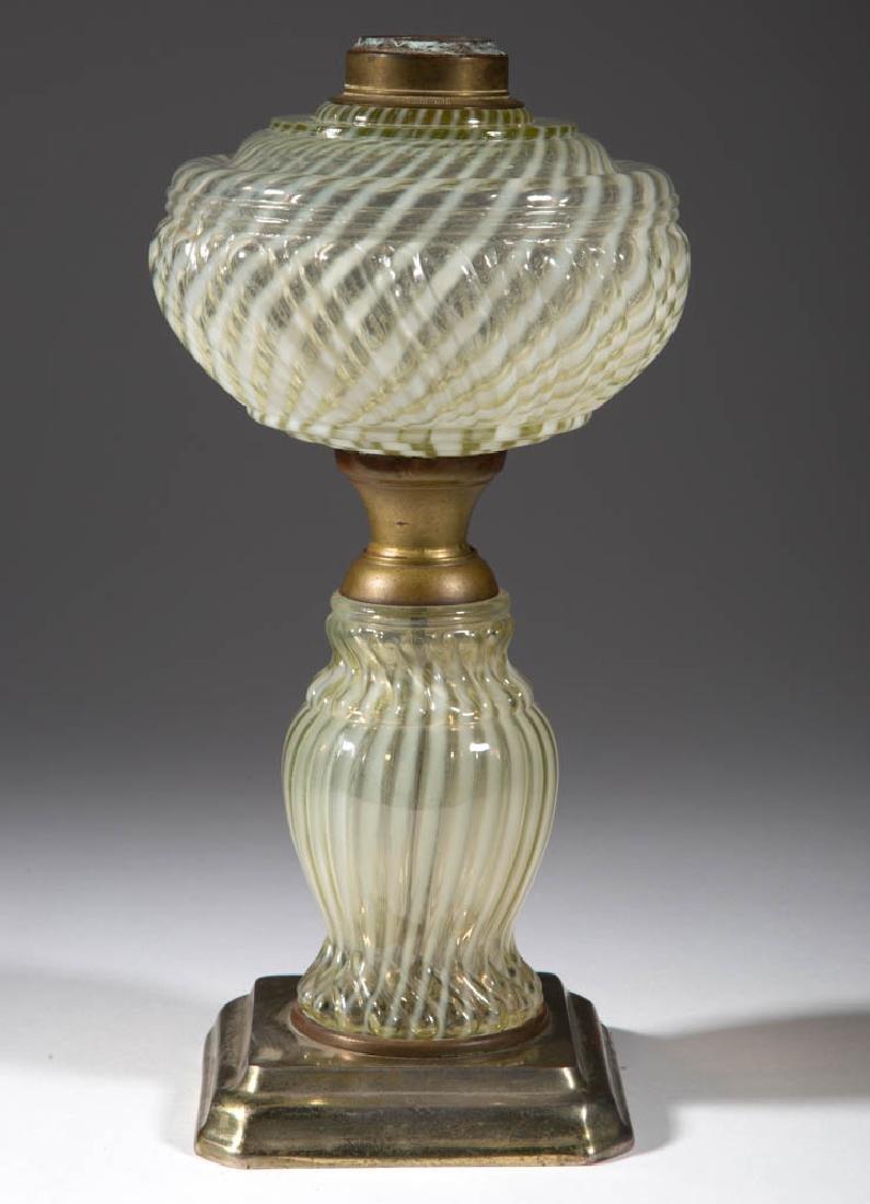 REVERSE SWIRL VARIANT COMPOSITE KEROSENE STAND LAMP