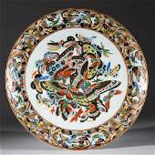 CHINESE EXPORT HUNDRED BUTTERFLIES PORCELAIN PLATE