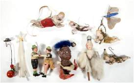 ANTIQUE CHRISTMAS AND OTHER ORNAMENTS, LOT OF TEN