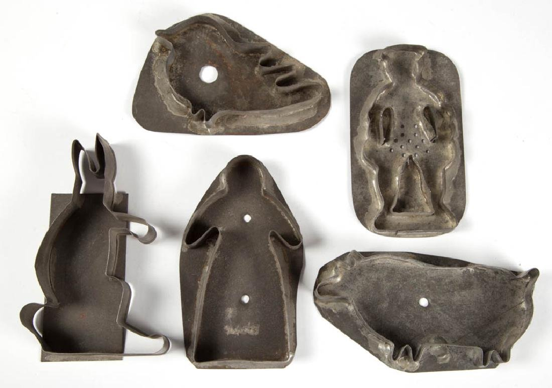 MID-ATLANTIC SHEET-IRON / TIN FIGURAL COOKIE CUTTERS,