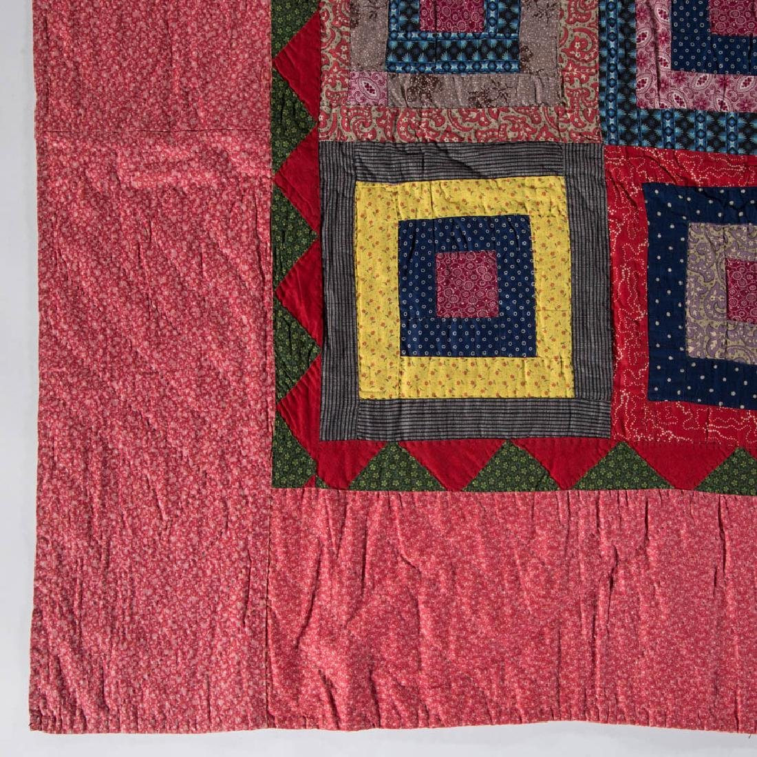 PENNSYLVANIA LOG CABIN PIECED QUILT - 2