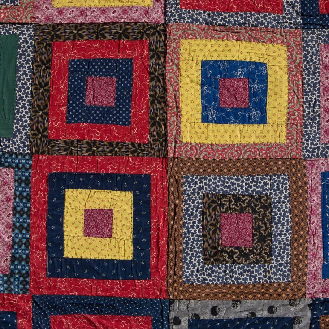PENNSYLVANIA LOG CABIN PIECED QUILT - 3