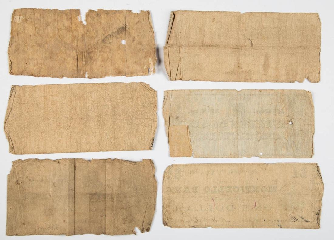 VIRGINIA CIVIL WAR OBSOLETE CURRENCY / BANK NOTES, LOT - 4