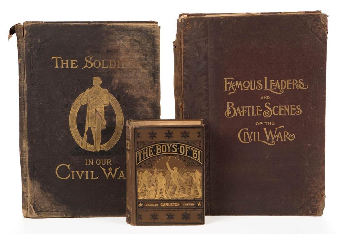 ANTIQUARIAN CIVIL WAR HISTORY VOLUMES, LOT OF THREE