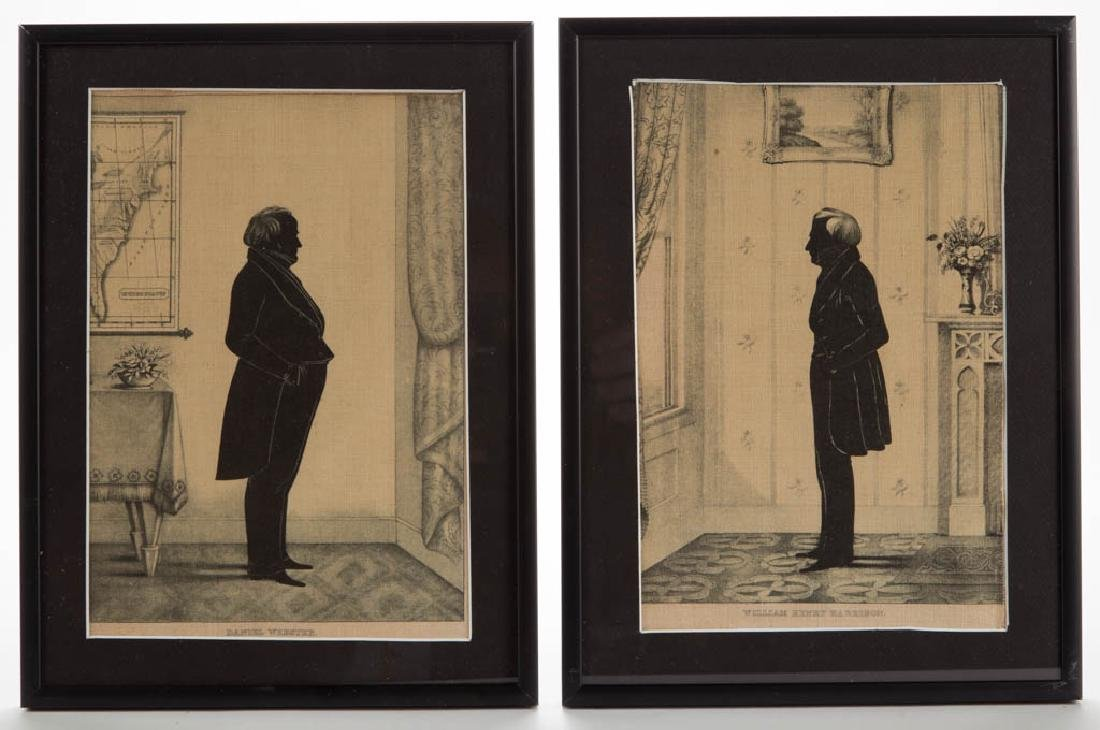 AMERICAN POLITICAL SILHOUETTE-TYPE PRINTS, LOT OF TWO