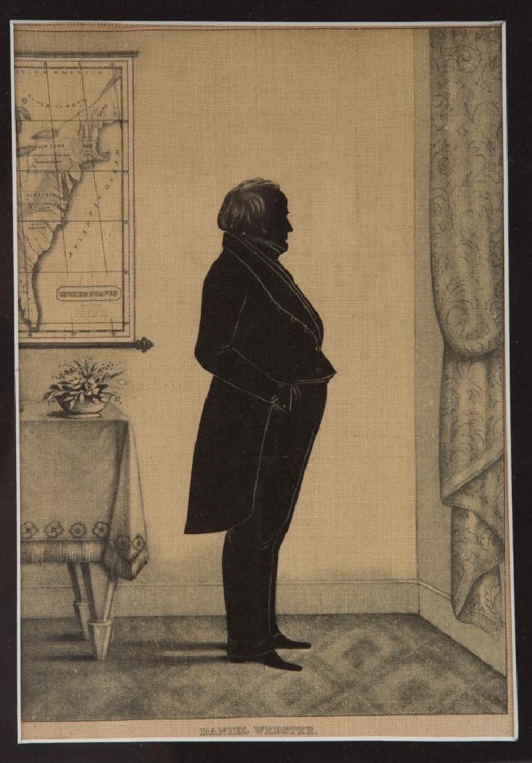AMERICAN POLITICAL SILHOUETTE-TYPE PRINTS, LOT OF TWO - 2