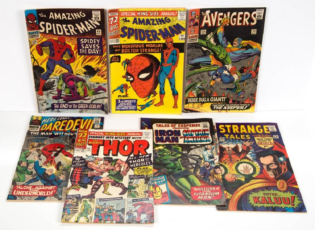 ASSORTED MARVEL SILVER AGE SUPER HERO COMIC BOOKS, LOT