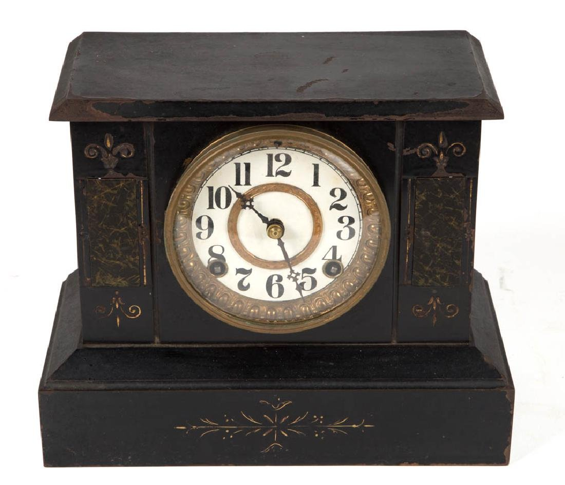 ASSORTED SHELF / MANTLE CLOCKS, LOT OF TWO - 2