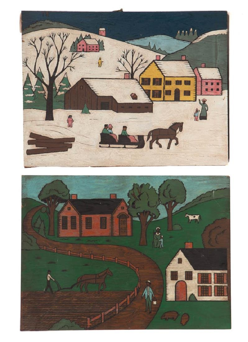 AMERICAN SCHOOL (20TH CENTURY) FOLK ART GENRE