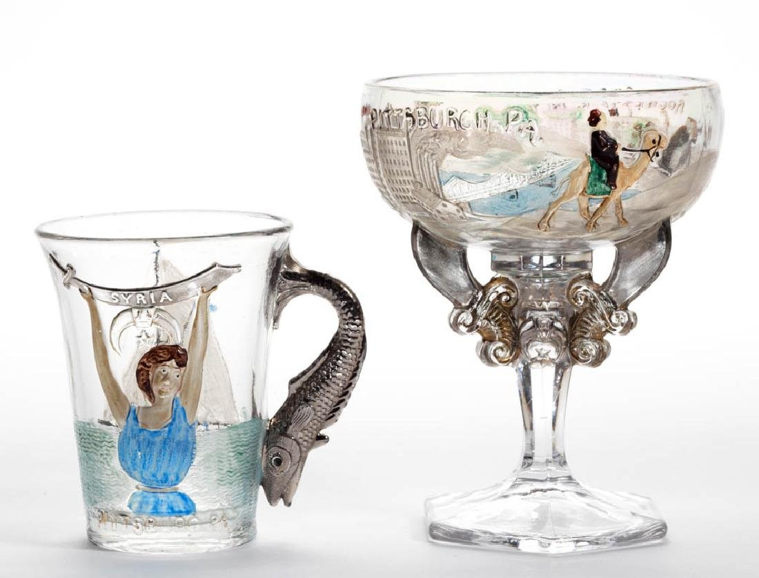 FRATERNAL AND OTHER ORGANIZATIONS PRESSED GLASS