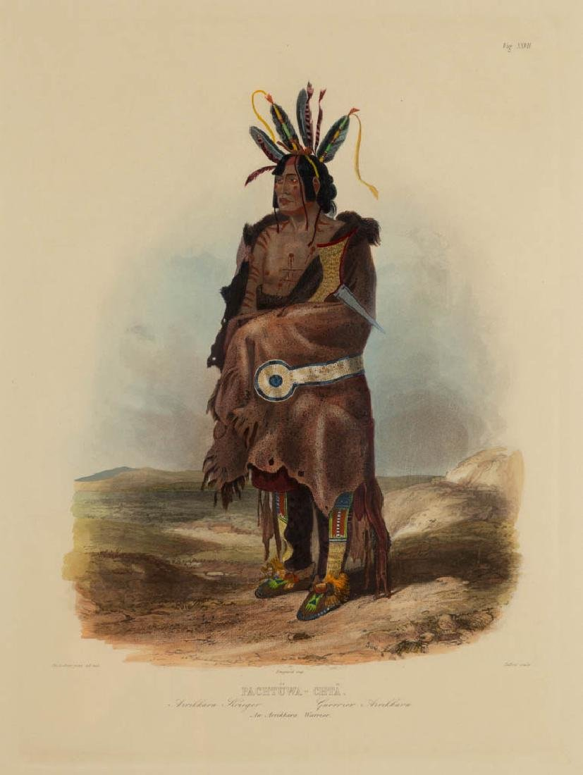 KARL BODMER (SWISS, 1809-1893) HAND-COLORED PRINT
