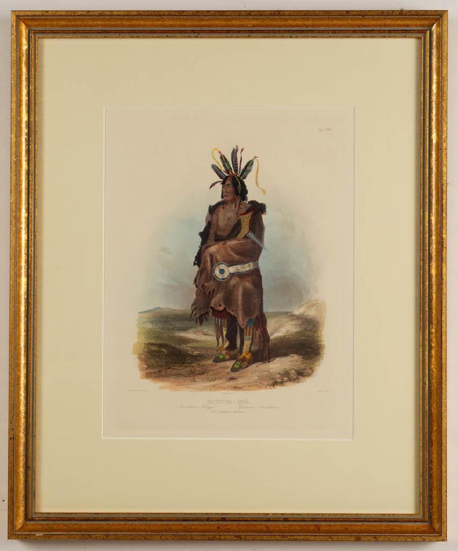 KARL BODMER (SWISS, 1809-1893) HAND-COLORED PRINT - 2