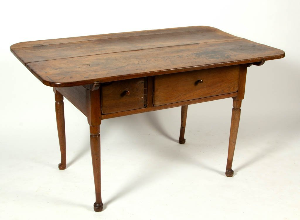 SHENANDOAH VALLEY OF VIRGINIA WALNUT PIN-TOP WORK TABLE
