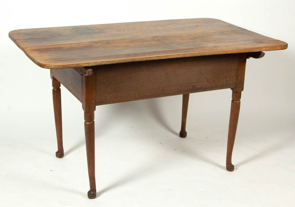 SHENANDOAH VALLEY OF VIRGINIA WALNUT PIN-TOP WORK TABLE - 2