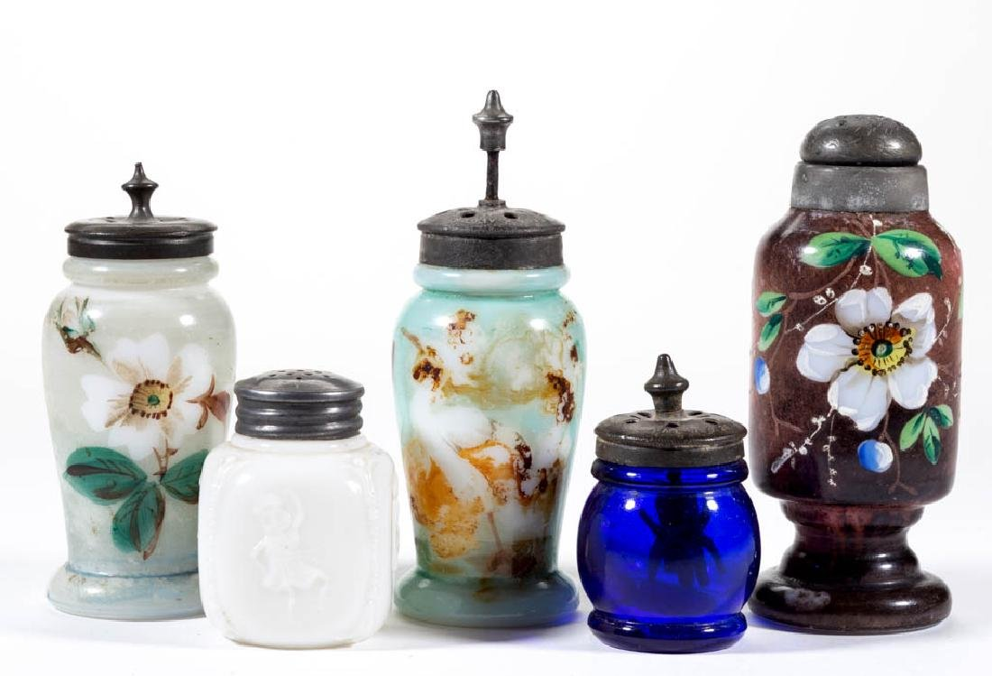ASSORTED AMERICAN GLASS SALT AND PEPPER SHAKERS, LOT OF