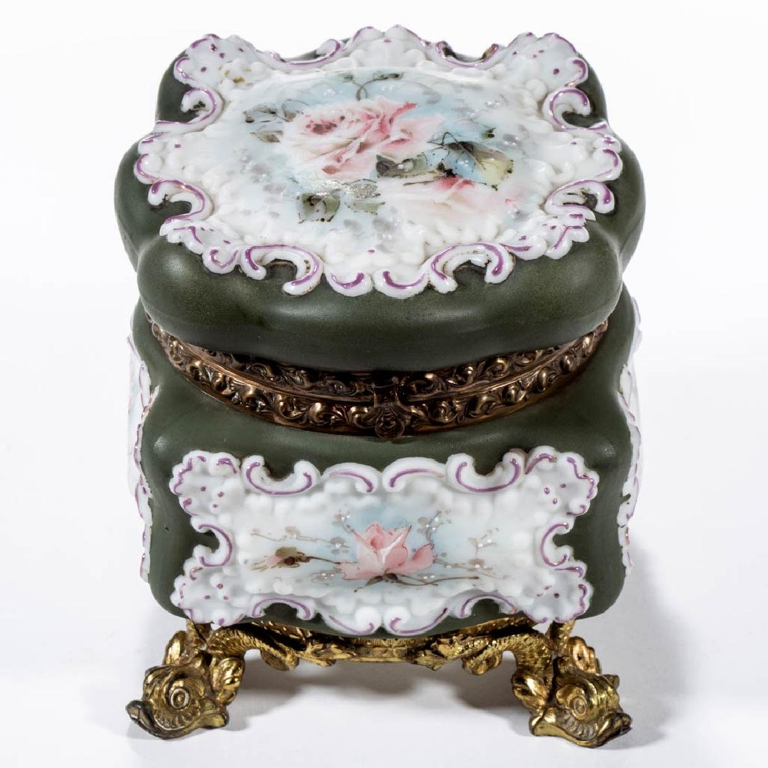 WAVE CREST ROCOCO SQUARE FOOTED BOWL