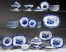 ENGLISH STAFFORDSHIRE TRANSFER-PRINTED FLOW BLUE