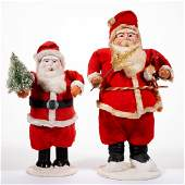 JAPANESE SANTA CLAUS FIGURES LOT OF TWO