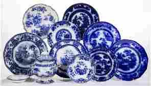 ENGLISH TRANSFER-PRINTED FLOW BLUE IRONSTONE CERAMIC