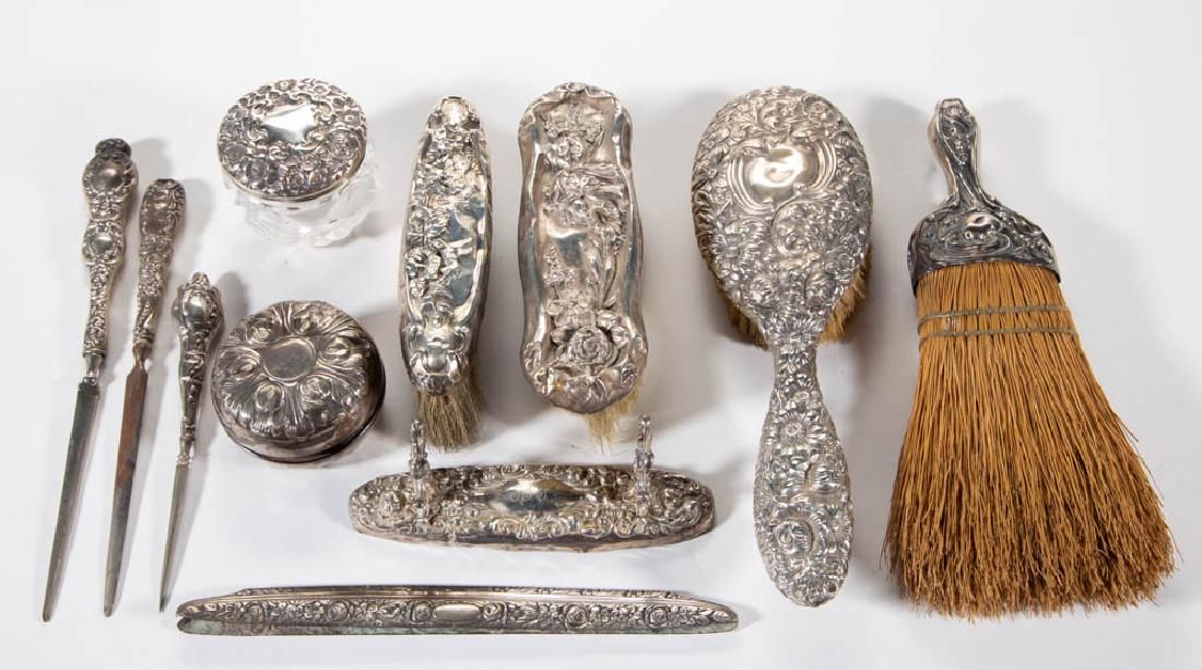 GORHAM AND OTHER REPOUSSE STERLING SILVER-HANDLED
