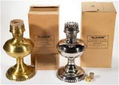 ALADDIN MODEL 6 KEROSENE MANTLE LAMPS LOT OF TWO