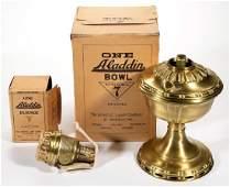 ALADDIN MODEL 7 BRASS KEROSENE MANTLE LAMP