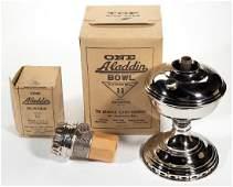 ALADDIN MODEL 11 NICKEL KEROSENE MANTLE LAMP
